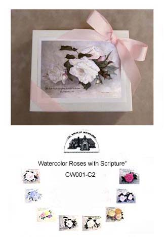 """Watercolor Roses with Scripture""  #CW001-C2"