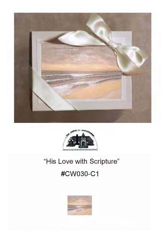 """His Love with Scripture""     #CW030-C1"