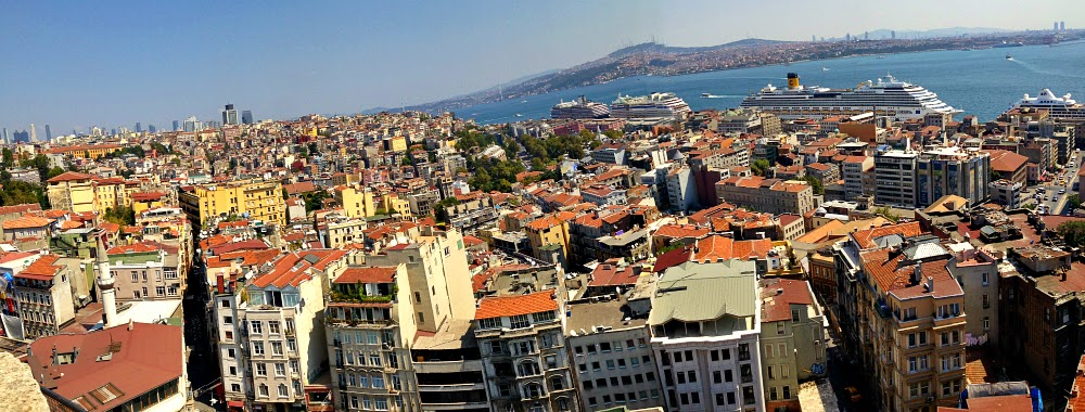 The view from Galata tower