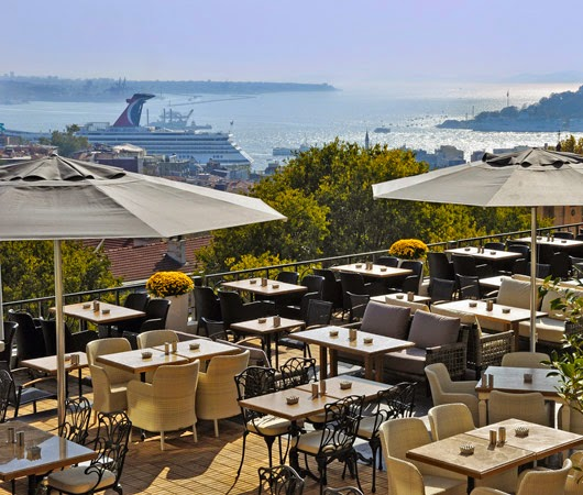Overlooking the Bosphorus at Midpoint