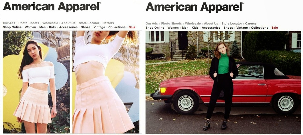 American Apparel imagery is designed to look like UGC.