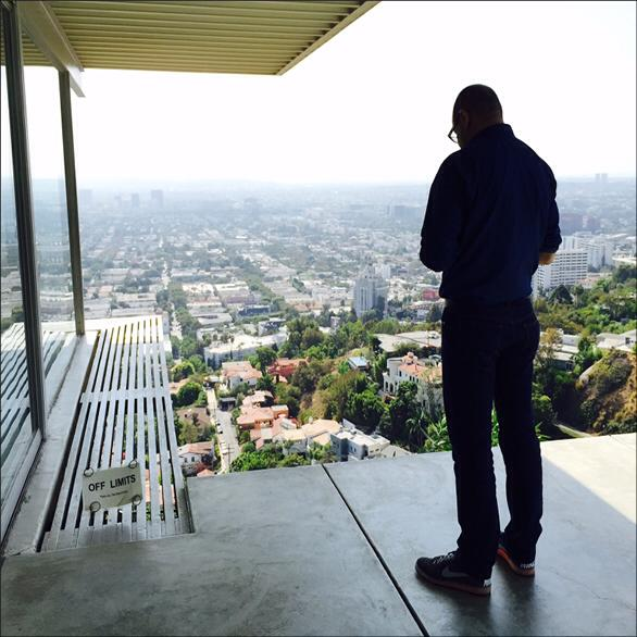 Mr. Krakoff at the Stahl House in LA, via Reed Krakoff's facebook page.