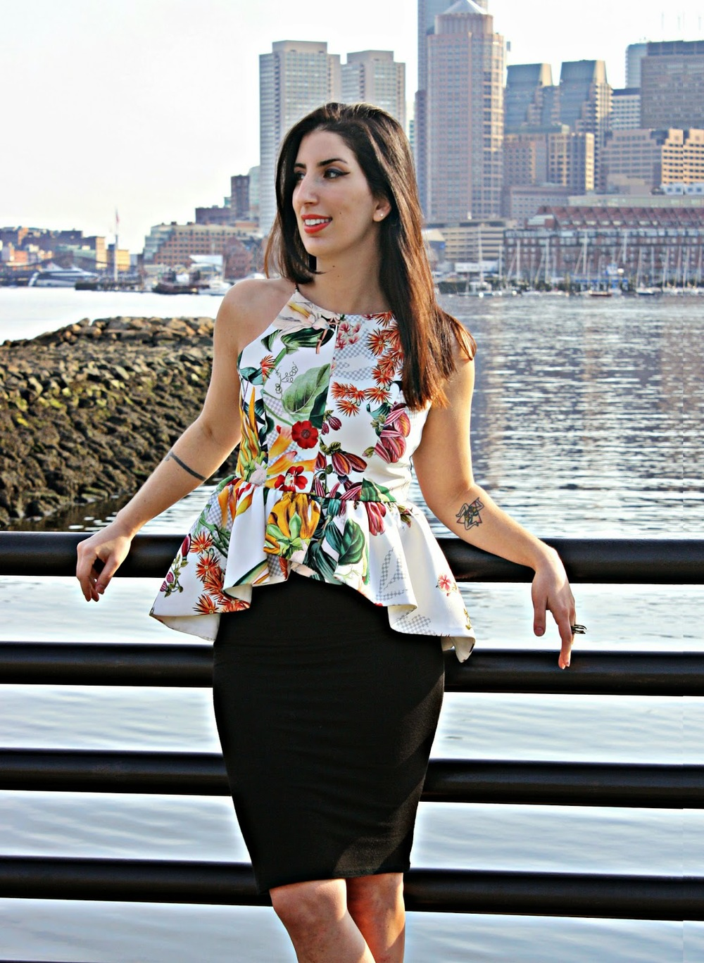 Cameo peplum top, Dolce Vita sandals