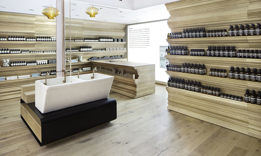 Aesop Store on Newbury Street in Boston, via Aesop.com