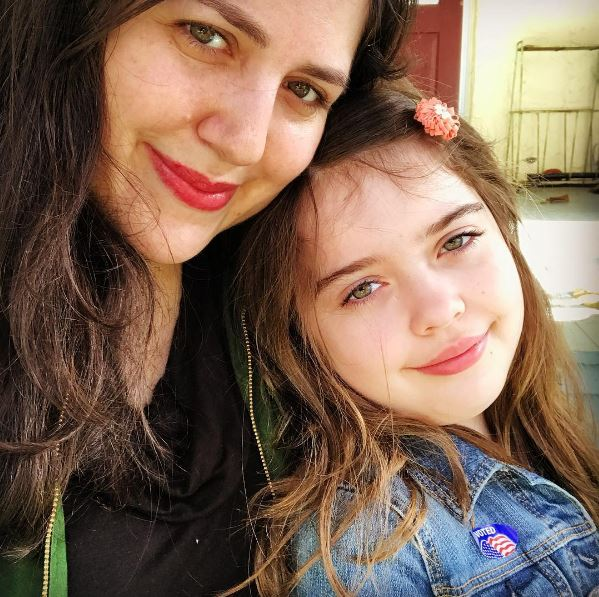 Kimberly Glyder with her daughter on election day 2016. Image via Instagram.