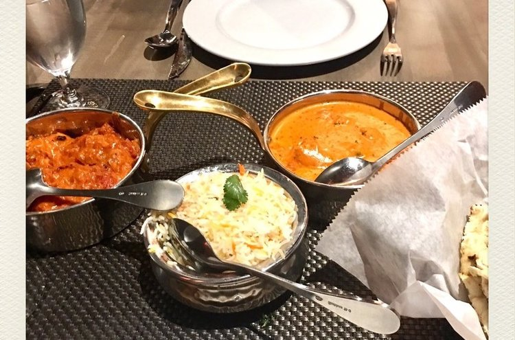 Left to right: Chicken Lababdor, $19, and Chicken Makhani, $19.  Image courtesy of Ariana A.