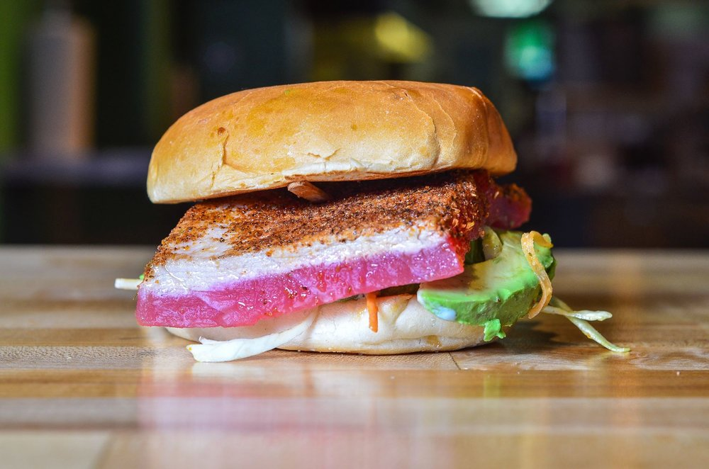 Ahi Tuna Burger;  Image via Big Buns