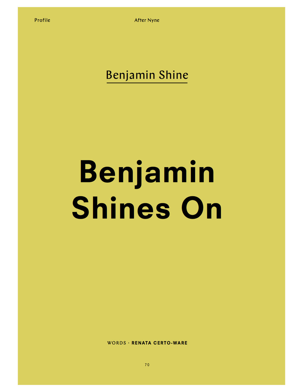 After Nyne Issue 17 Benjamin Shine interview after nyne .jpg