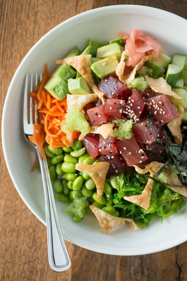 Poke Bowl at The Boathouse. Image via The Boathouse