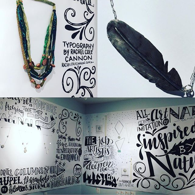 Have you been by the gallery to see our jewelry/typography collaboration from Cole + Cole? Gallery open this Friday, Sat, Sun 12-5. #keepitlocal