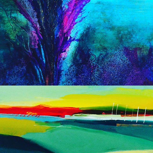 This is the last week to catch our Sherri Stewart and Bob Rankin abstract feature at the gallery. Be sure to drop by this weekend if you haven't seen them yet! #keepitlocal