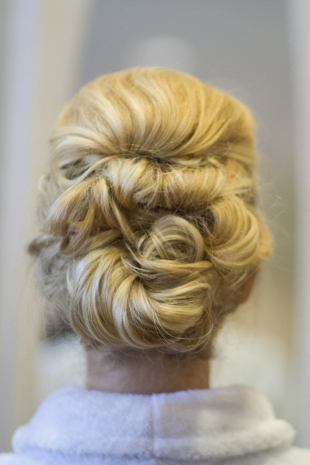 Wedding Day Hair Messy Curls Up-do Hairstyle