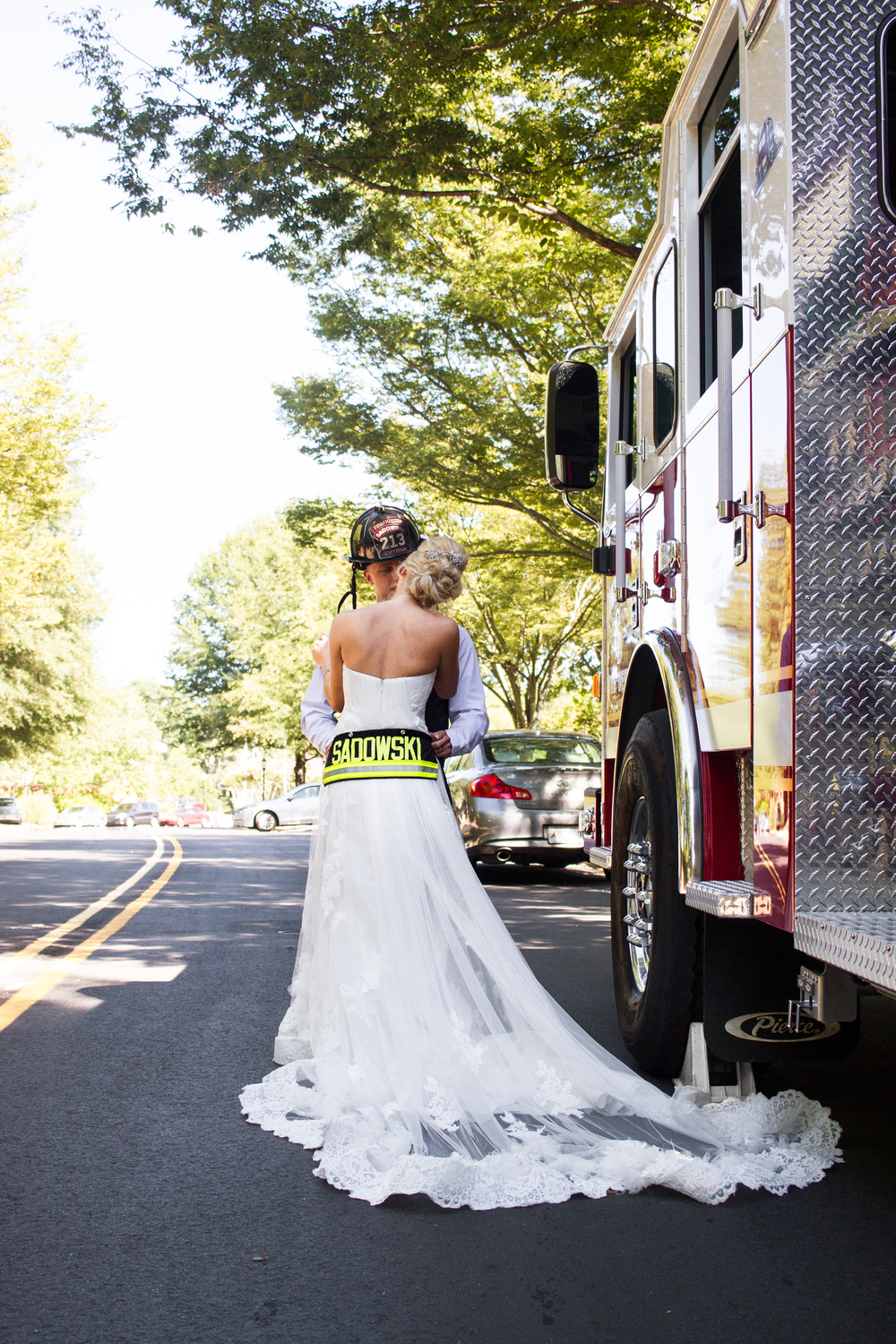 Bride Groom Firetruck