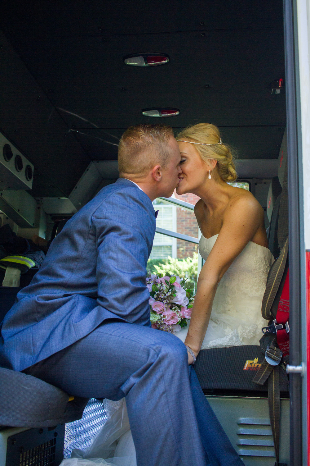 Bride and Groom Firetruck