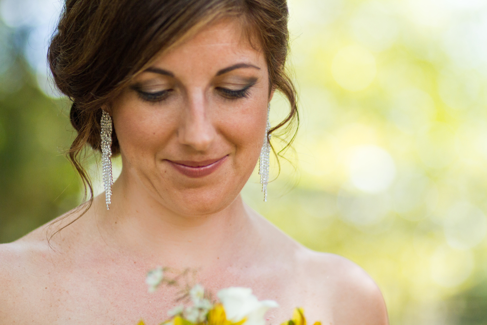 Bridal Portrait Sunflower Bouquet