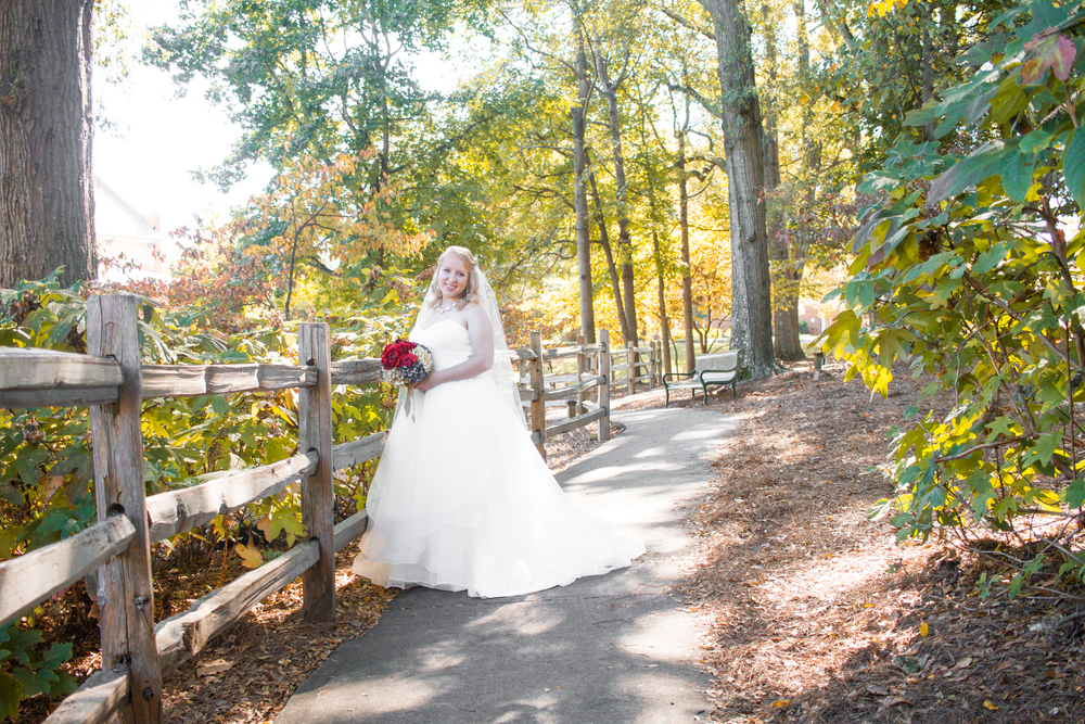 Bride Fall Colors