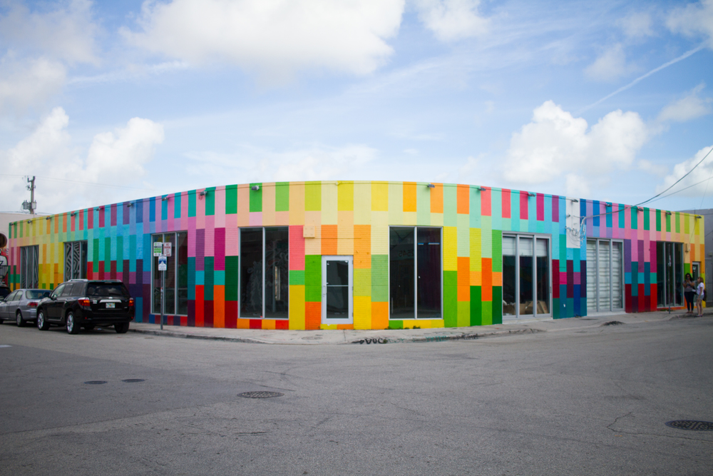 Colorful Building Color Blocks Wynwood Miami