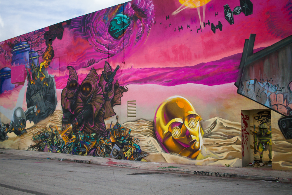 C3PO Star Wars Art Mural Painting