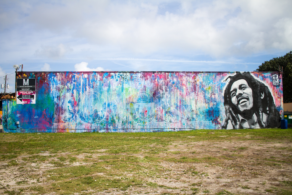 Bob Marley Colorful Painting Art Wall Miami Wynwood Mural Loveism