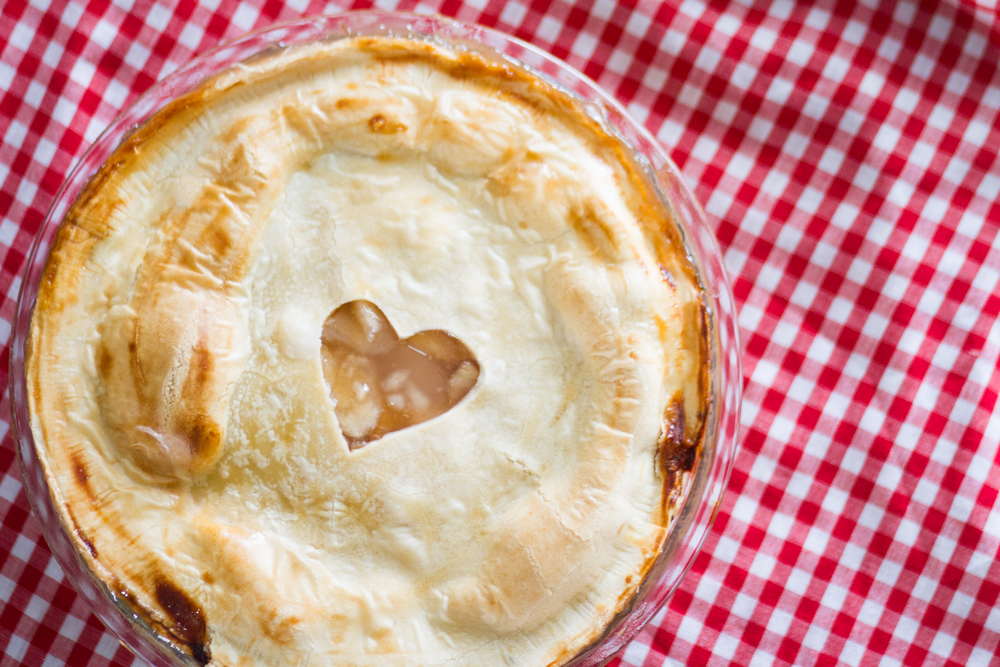 Valentines Day Apple Pie With A Heart Shaped Center