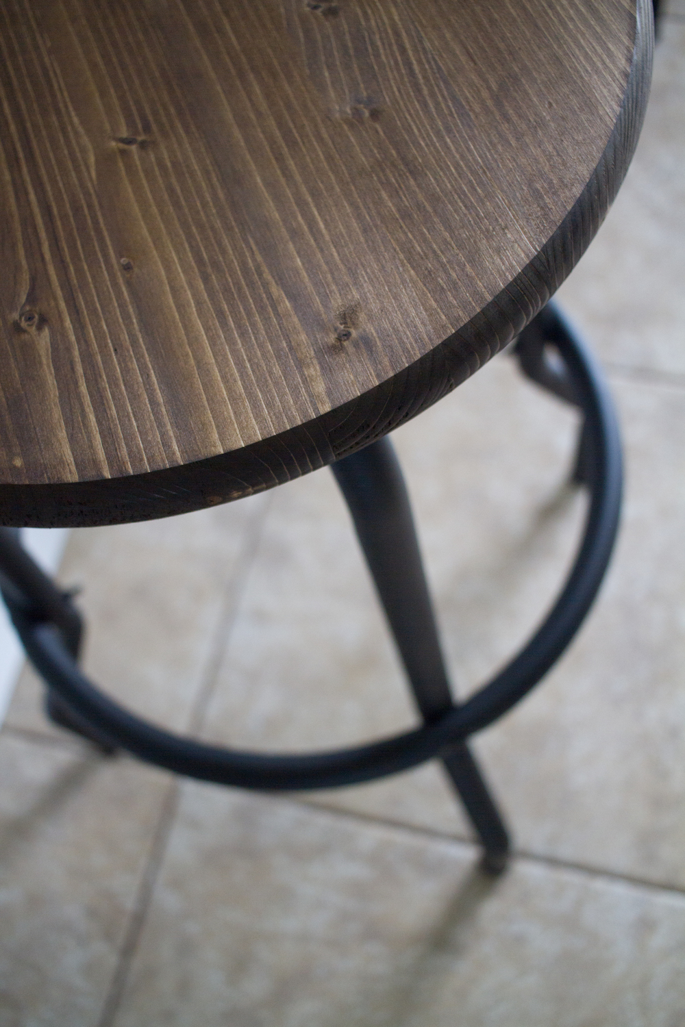 Outdated to Industrial Barstool Makeover DIY