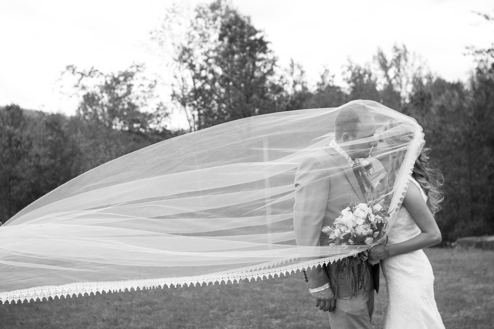 Bride & Groom Veil Shot