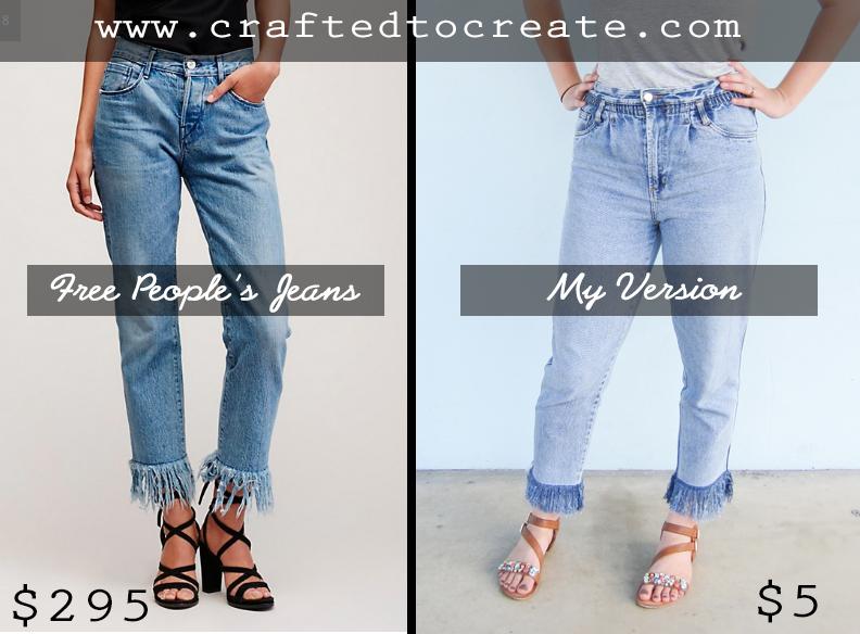 DIY Fringe Cropped Jean