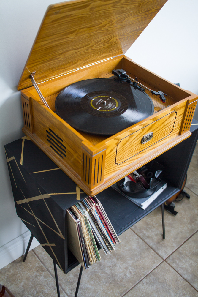 diy old outdated speaker to new mod record table