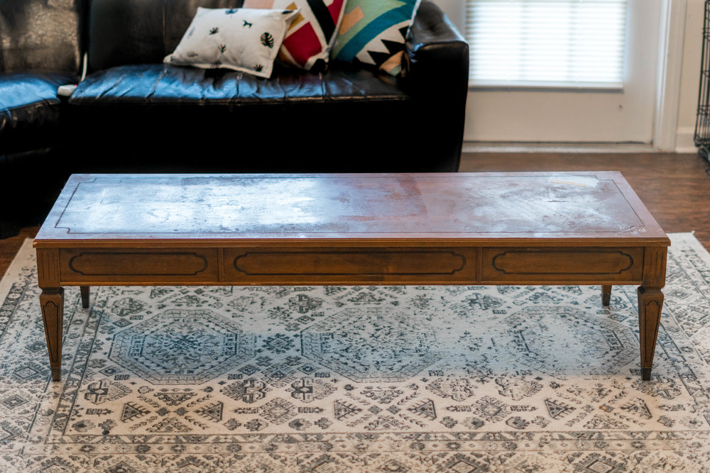Mid Century Coffee Table Makeover