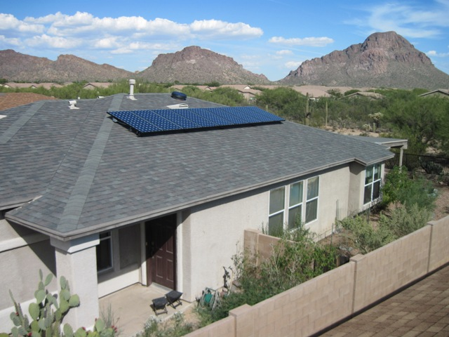 solar panels on Tucson AZ home
