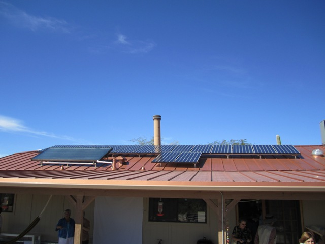 Tucson AZ Solar Electric and Solar Hot Water Residence