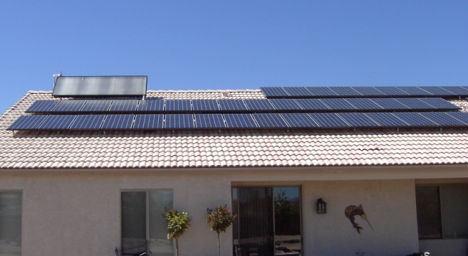 Solar Photovoltaic and Hot Water system in Vail, Arizona