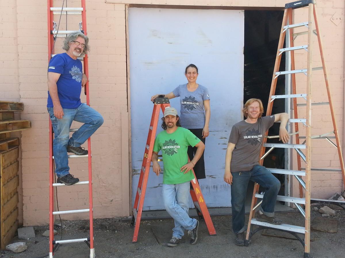 Matt, Tamarack, Erika and Bobby model Solar Revolution Shirts