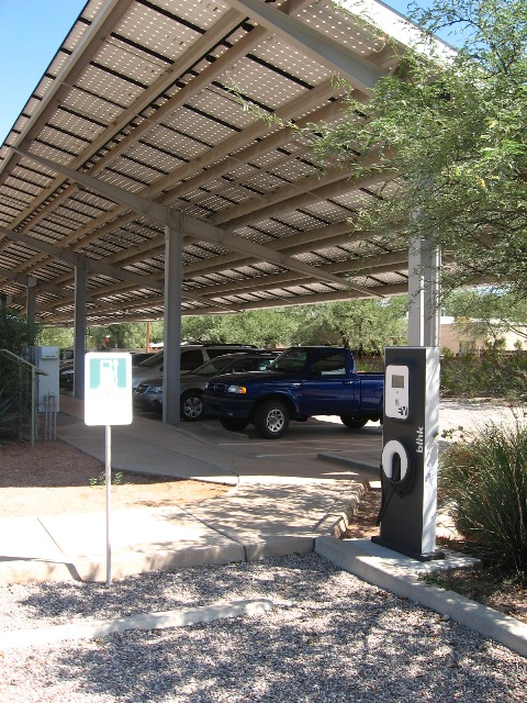 Tucson Nature Conservancy Solar Electric Vehicle Charging Station
