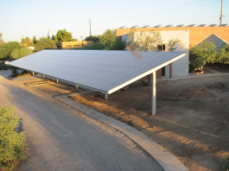 Tucson Nature Conservancy Solar Parking Array