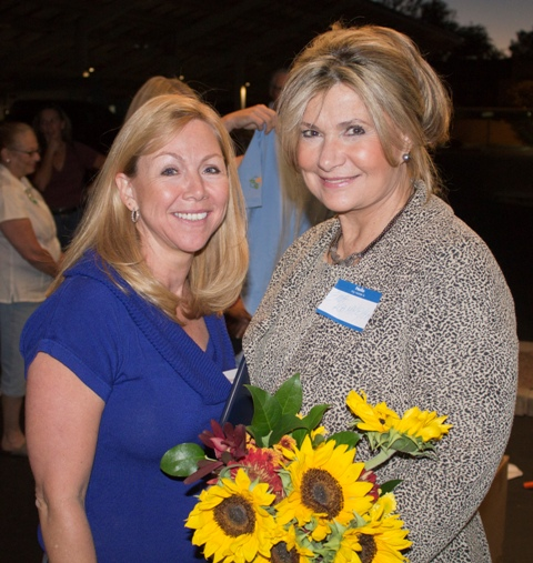 ESBF CEO Ema Kammeyer and friend at the Solar Celebration
