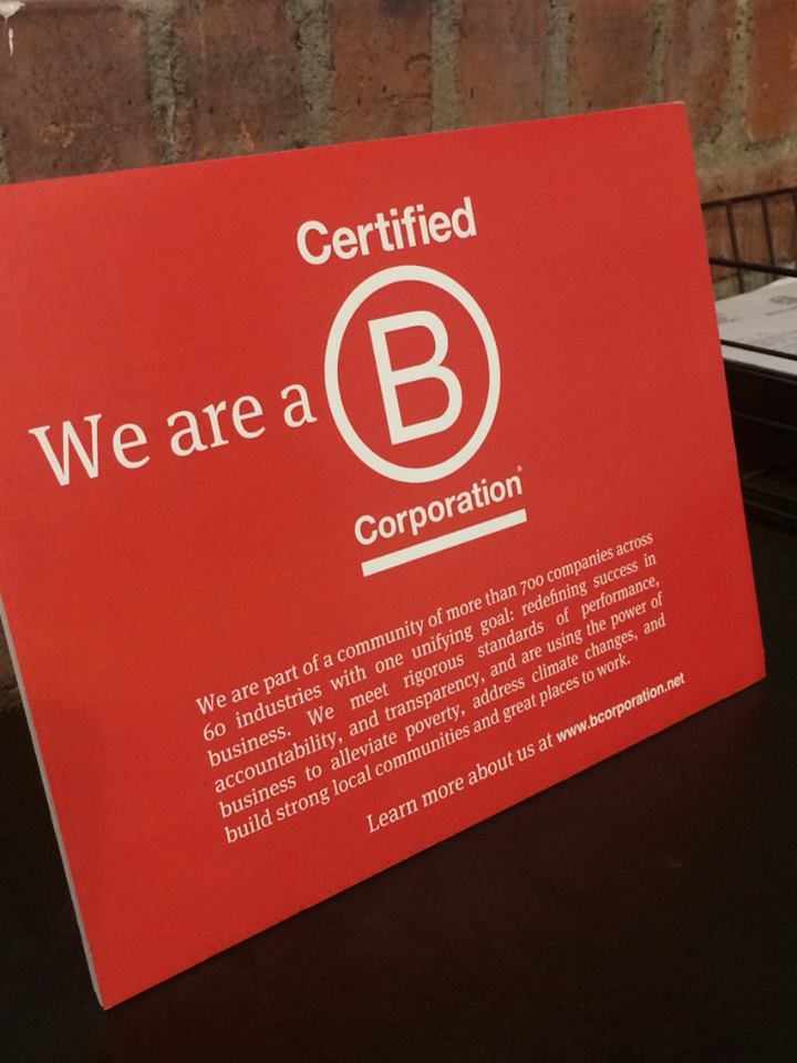 b corp sign