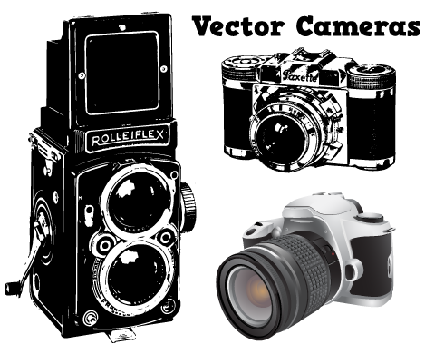 Camera Vintage Vector Png : Vintage camera vector art: real vintage brown compact pocket camera