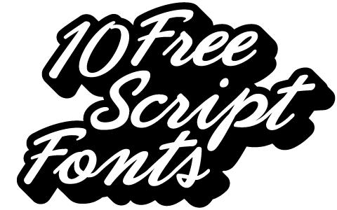 free font script: