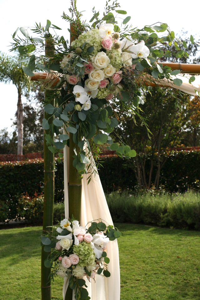 Beachy Garden Inspired Wedding Arch