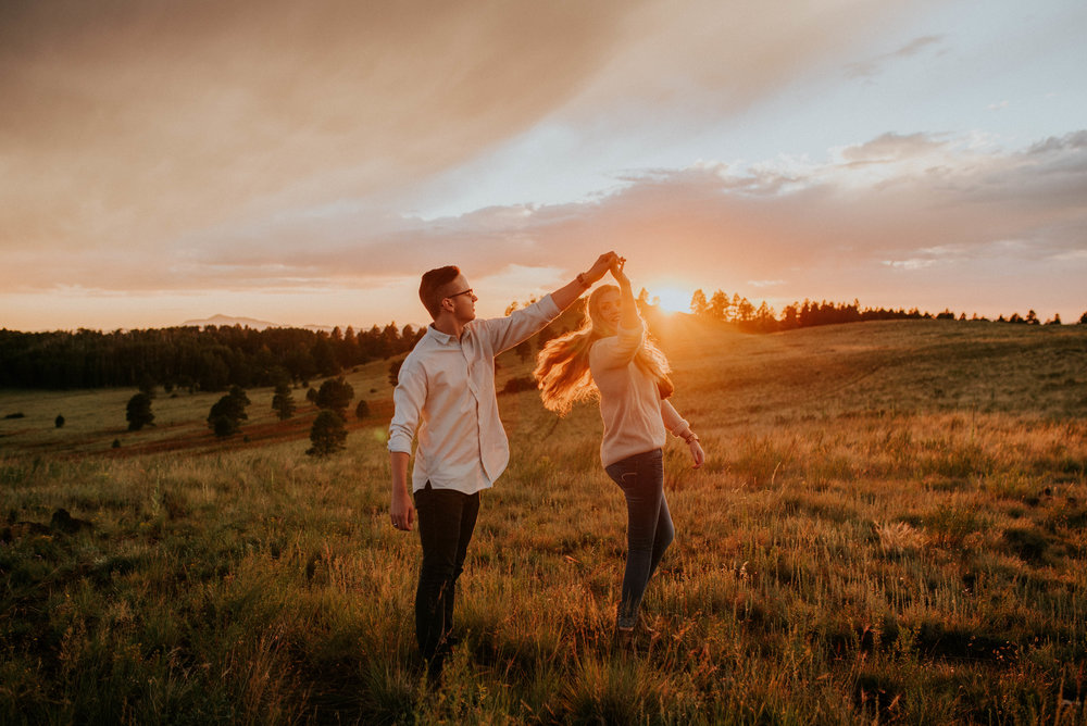 Flagstaff, Arizona Sunset Engagement - Taylor + Curtis-11.jpg