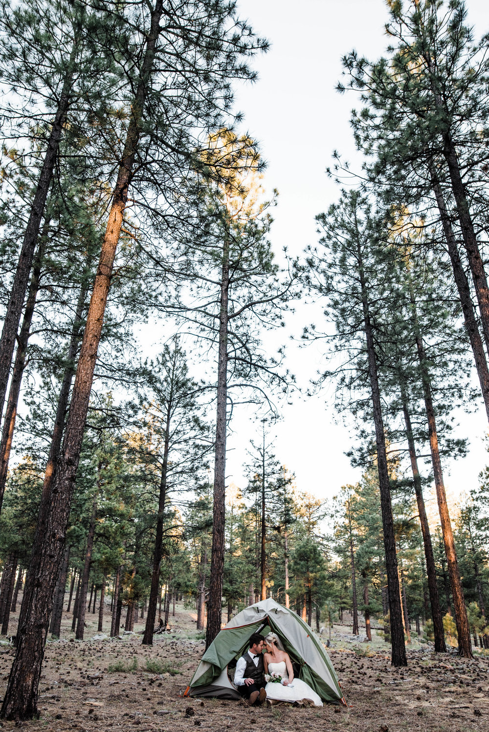 Flagstaff Intimate Camping Wedding