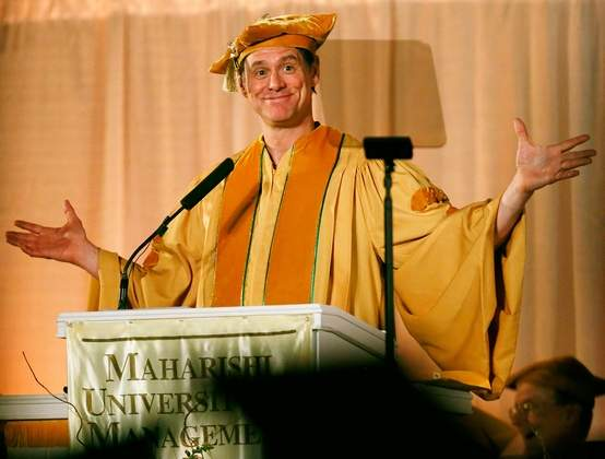 jim carrey graduation speech maharishi university
