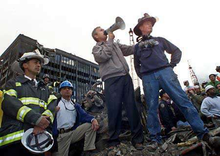 George W Bush The People Who Knocked These Buildings Down Will