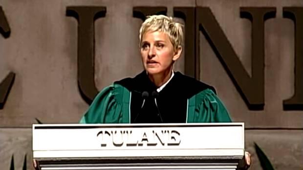 ellens graduation speech transcript