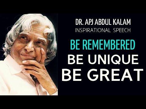 A P J  Abdul Kalam: 'Evolution of a unique you', address to