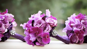 Pantone Color of the year Radiant Orchid floral bouquets