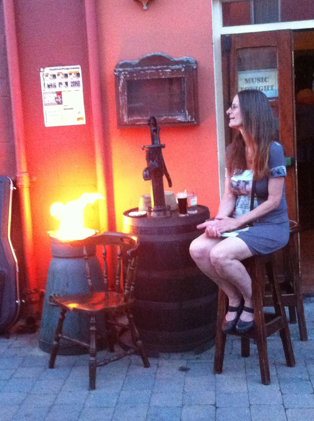 Gail enjoys traditional Irish music in Glengarriff