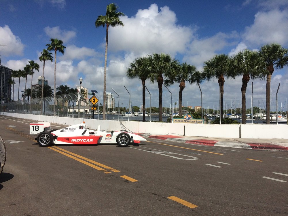 Getting up close with the Indy Car Experience in St. Petersburg, Florida!