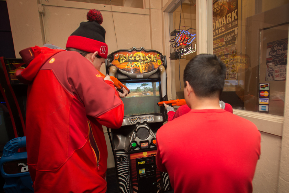 The arcade at Landmark Lanes